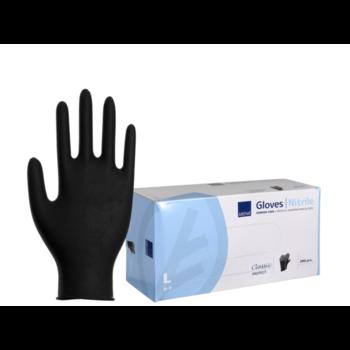 Abena Nitril Handschoenen Ongepoederd Zwart (100 Stuks)