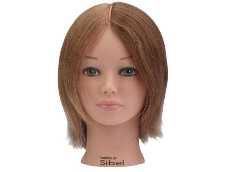 Sibel Oefenhoofd 4 Colors 15-25cm 100% Echt Haar