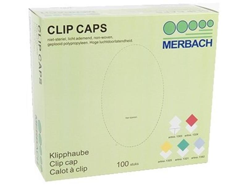 Merbach Haarnet Clip Caps Wit (100 Stuks)