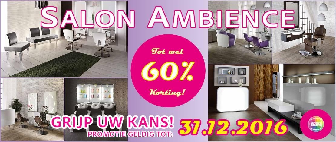 Salon Ambience Megakorting, tot wel 60%!