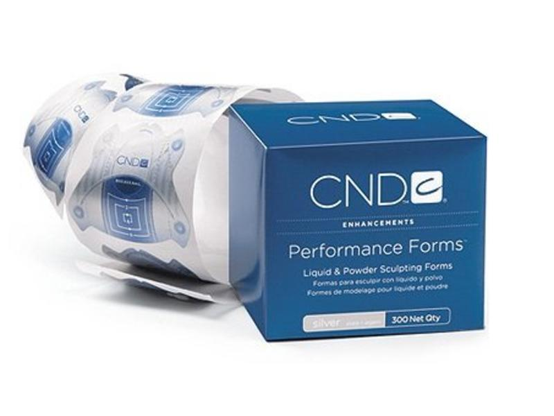 CND Nagel Sjabloon Performance Forms Silver (300 Stuks)