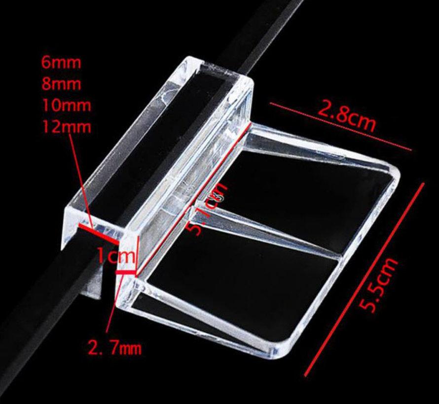 Glas Clip voor het bevestigen van onze ledbalken. (Prijs per 2 stuks)
