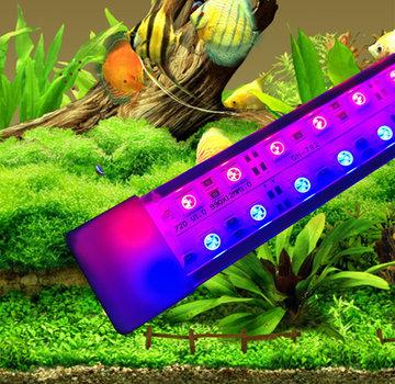 Aquarium led verlichting (rode en  blauwe LEDS)  alle lengtes (25 t/m 150 cm)  dubbele led strip waterdicht Prijs vanaf: