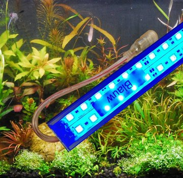 Aquarium led verlichting (blauwe leds) alle lengtes (25 t/m 150 cm)  dubbele led strip waterdicht Prijs vanaf: