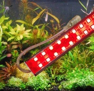 Aquarium led verlichting (rode leds) alle lengtes (25 t/m 150 cm)  dubbele led strip waterdicht Prijs vanaf: