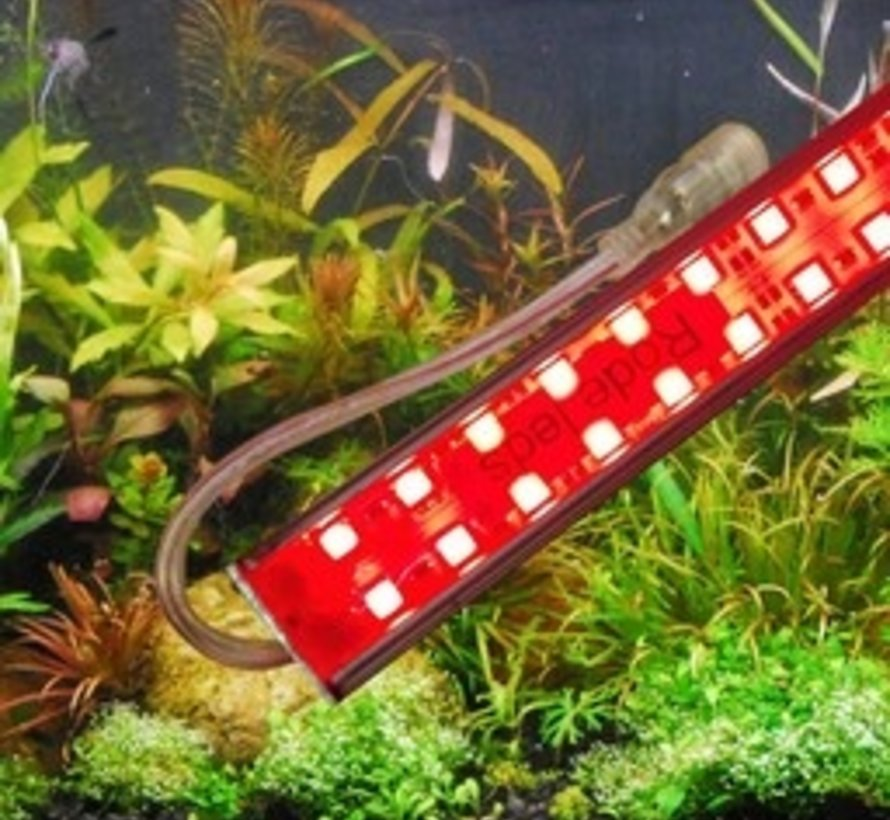 Aquarium led verlichting (rode leds) (dubbele ledstrip) alle lengtes waterdicht. Scroll naar beneden voor de lengtes boven de 125 cm.