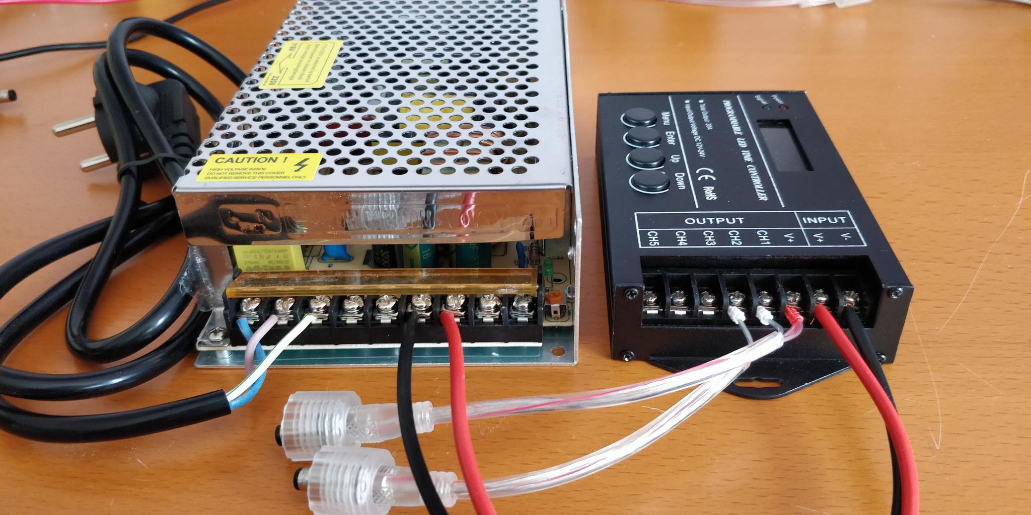 Aansluitschema adapter op tc420