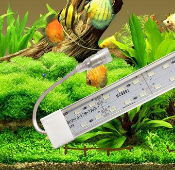 Cichlide aquarium LED verlichting alle lengtes (25 t/m 200 cm)  dubbele led strip waterdicht.