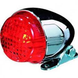 Texas Red / Chrome Cafe Racer Tail Light