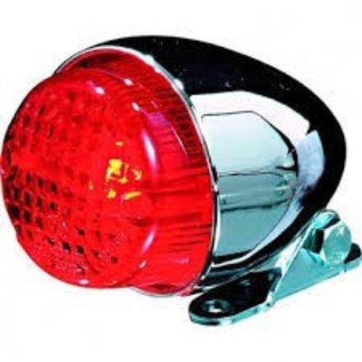 Shin Yo Texas Red / Chrome Cafe Racer Tail Light