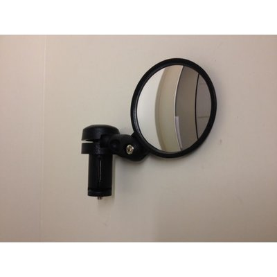 Black Wide Angle Convex Bar End Cafe Racer Mirror