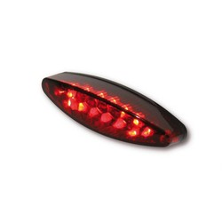 Red Oval Cafe Racer LED Tail / Brake / Plate Light