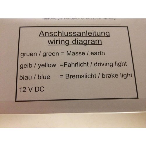 Highsider LED-Rücklicht / Bremslicht Kombination Smoke