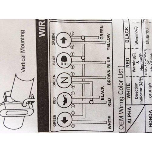 Daytona Kontrollleuchteneinheit mit 5 LED-Anzeigen Schwarz