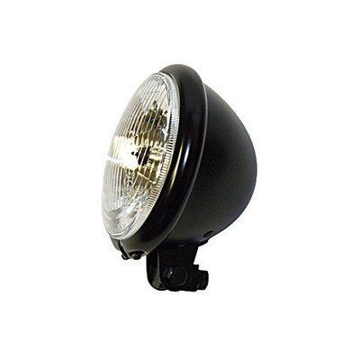 "5.75"" Bates Headlamp H4, black, E-mark"