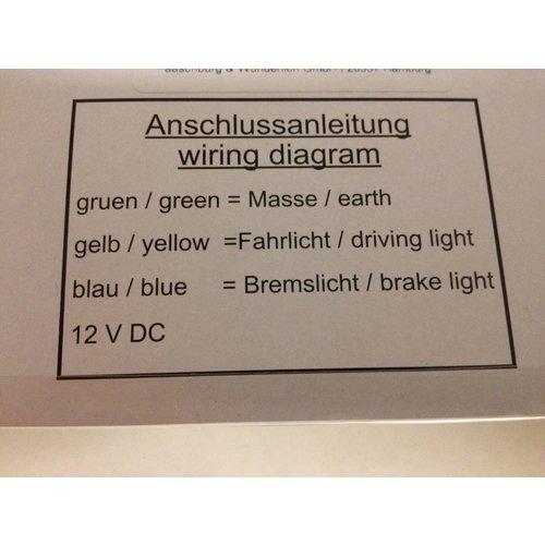 "Highsider LED-Rücklicht / Bremslicht Kombination ""Clear"""
