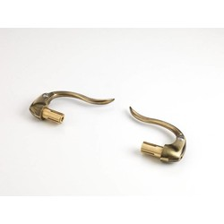 "Kustom Tech Brass Inverted Hand Controls 1"" Bars"