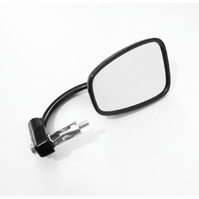 Emgo Oldskool Black Bar End Cafe Racer Mirror