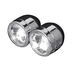 Twin Headlight Dubbele Koplamp Chrome