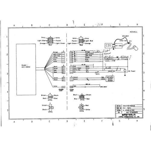 Acewell Digitaal Dash KM/H & RPM ACE-2853 Chroom