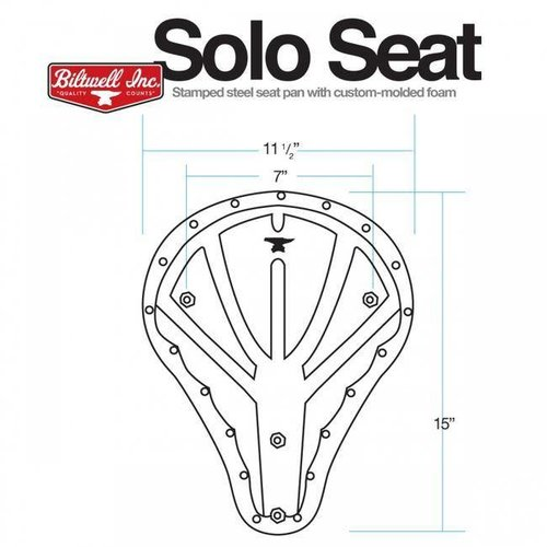 Biltwell Solo Tuck N 'Roll Bobber Seat