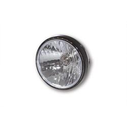 "7"" Clear Black Gloss Headlight RENO 2"