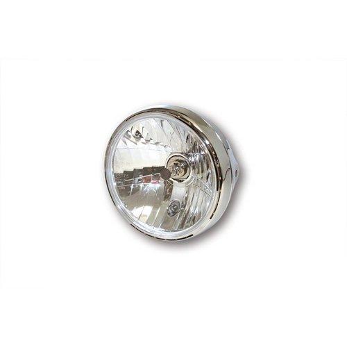 """Highsider 7"""" Reno 2 Hauptscheinwerfer mit LED Positionsleuchte im Lampenring Verchromt"""