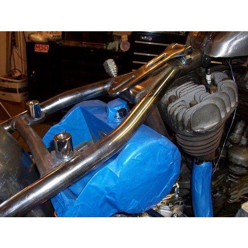 Biltwell Bobber Sitzbank Hinge Kit Polished Stainless Steel
