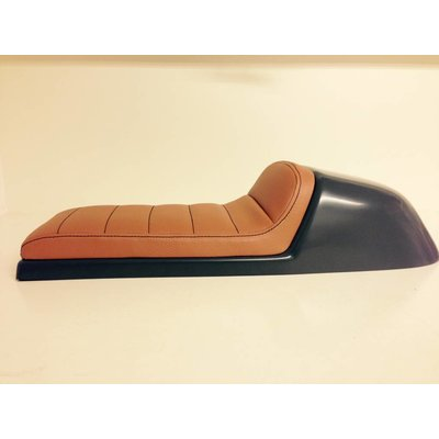 C.Racer Cafe Racer Seat Tuck N' Roll Stitch Brown Type 32