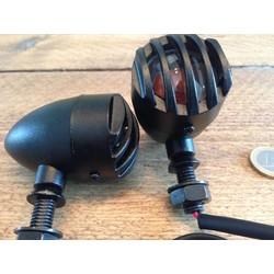 Set Flat Black Steampunk Turn Signals