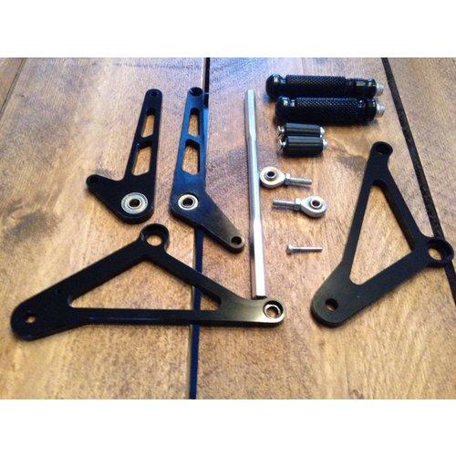 MCU Rearset / Rem Schakel Set Zwart Type 1