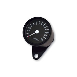 15.000 RPM Cafe Racer Tachometer Black