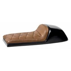 Cafe Racer Sitzbank Diamond Stitch Chocolat Brown Type 39