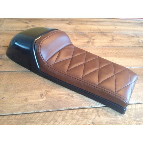 C.Racer Cafe Racer Sitzbank Diamond Stitch Chocolat Brown Type 39