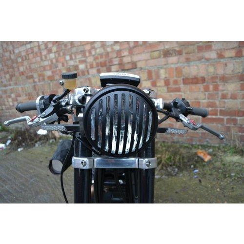 """6.75"""" Steampunk Cafe Racer Koplamp Mat Zwart"""