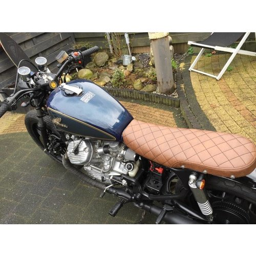 C.Racer CX500 Sitzbank Diamond Washed Brown 75