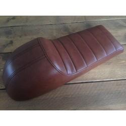 Cafe Racer Seat Tuck N' Roll Vintage Brown 76