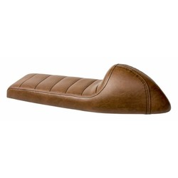 Upholstered Cafe Racer Seat Tuck N' Roll Rustic Brown 58