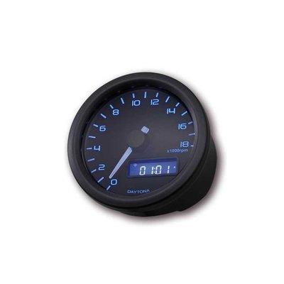 Daytona 18.000 RPM Drehzahlmesser Verona Schwartz