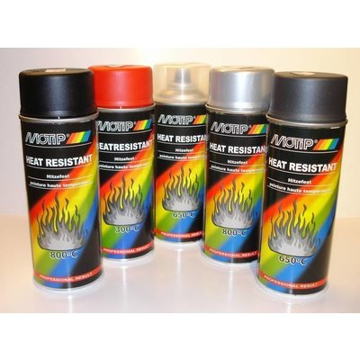 Motip Heat Resistant Paint Multiple Colors