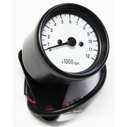 12.000 RPM Tachometer Black / White