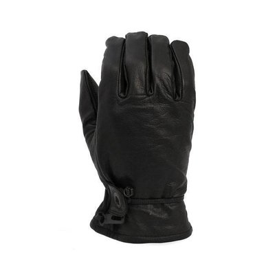 Lederen Oldschool Handschoenen Black