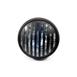 """7.7"""" Steampunk Cafe Racer Matte Black Headlight"""