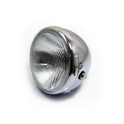 """6.75"""" Classic Chrome Cafe Racer Headlight"""