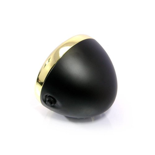 "7.7"" Scrambler Koplamp Brass & Black Extra Groot"