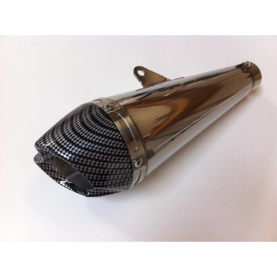 "Stainless / Carbon GP Silencer ""Race"""