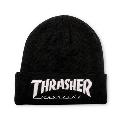 Thrasher Patch Beanie - Black