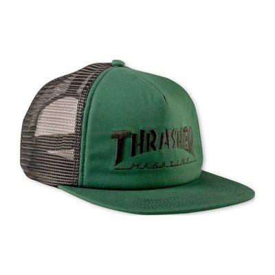 Thrasher Logo Mesh Cap - Green/Black