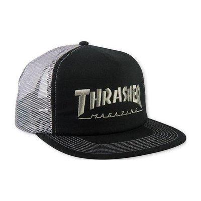 Thrasher Logo Mesh Cap Black