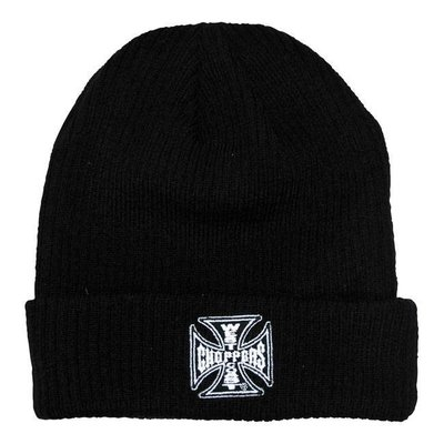 West Coast Choppers Maltese Cross Rib Knitted Beanie